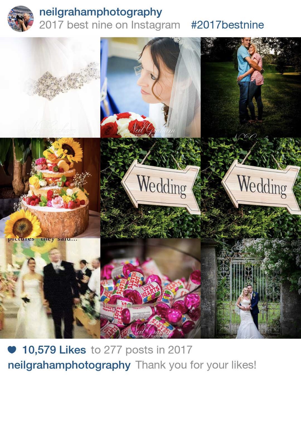 Best 9 photos on Instagram, over 10,000 likes.
