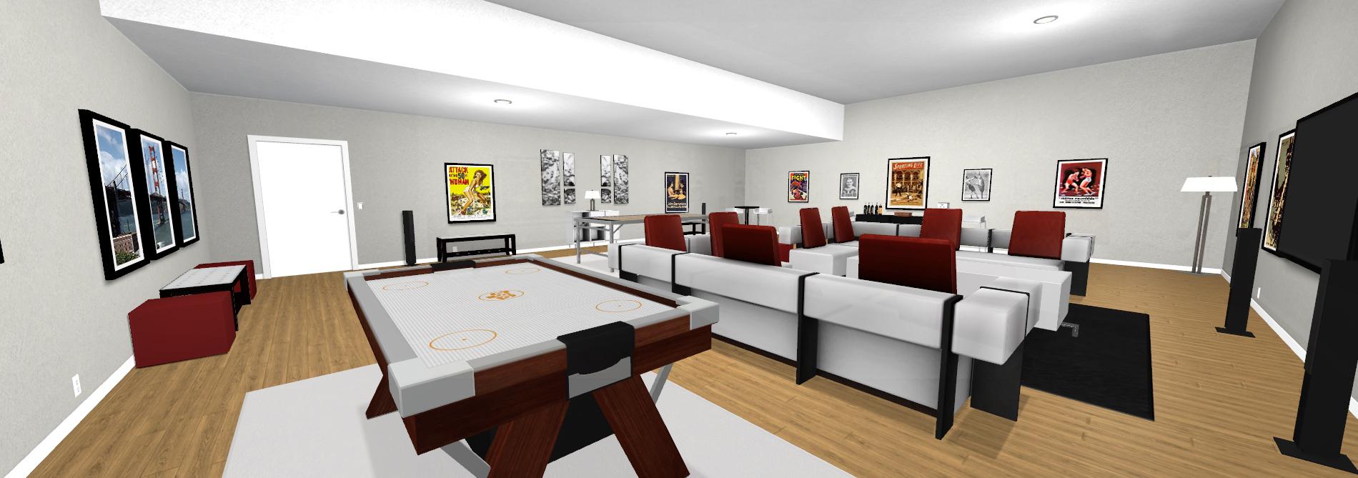 Contemporary Villa - Basement