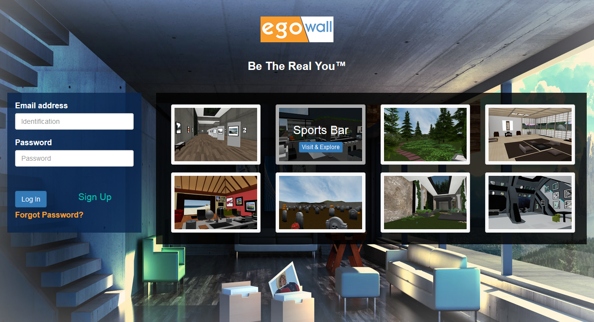 New Egowall Landing Page with Featured Public Spaces