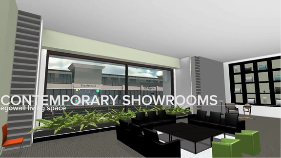 Contemporary Showrooms Living Space