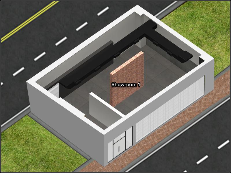 Contemporary Showroom - Floor Plan