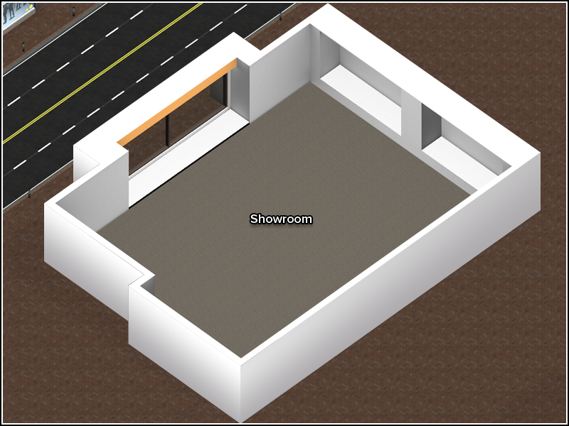 Contemporary Showroom 2 - Floor Plan