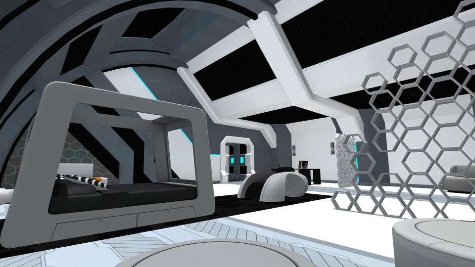 Space Captain's Quarters - Living Room 1