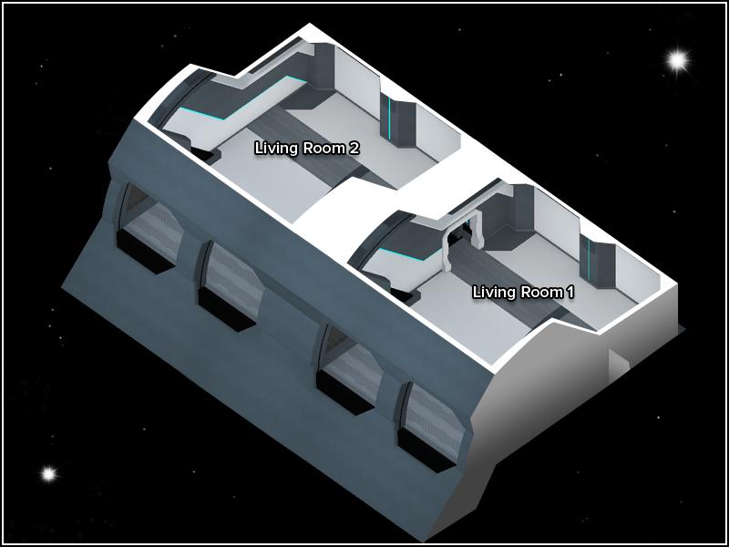 Space Captain's Quarters - Floor Plan