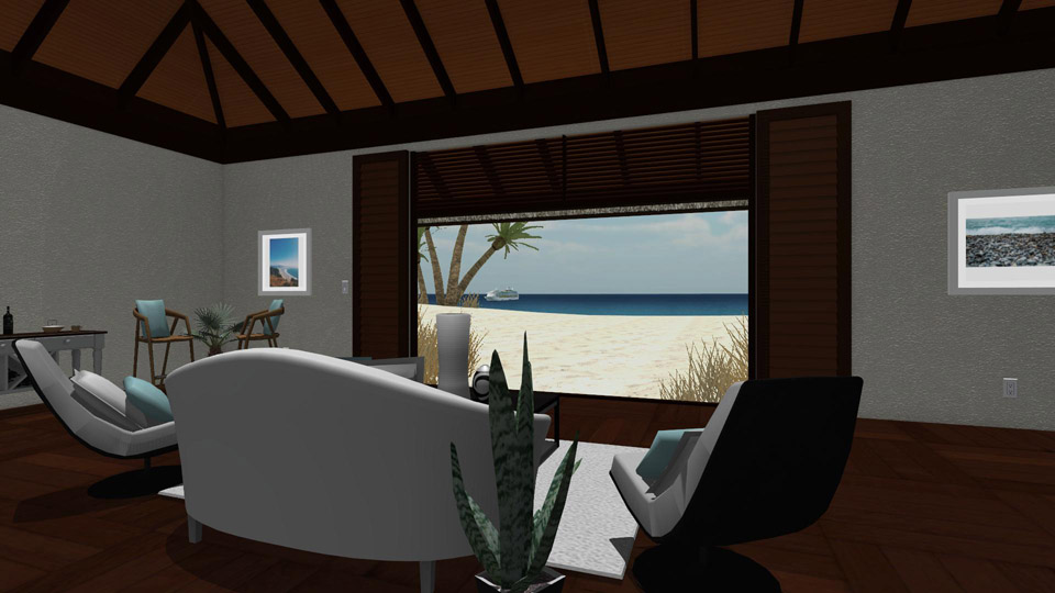 Beach Bungalow - Living Room
