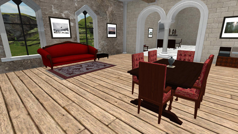 An Example of the Living Space Used in the Referenced Test Case