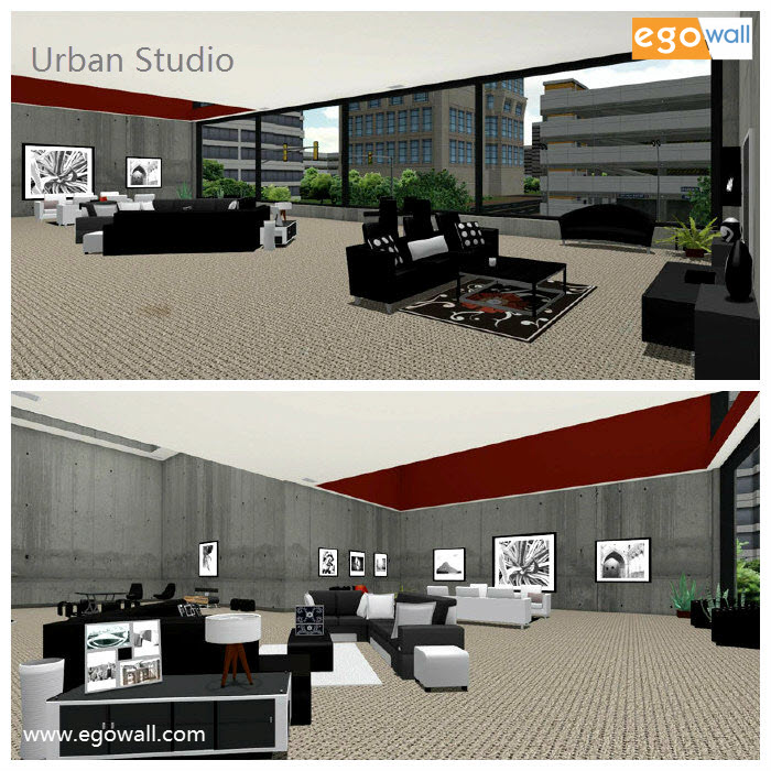 Diptych of Urban Studio Images