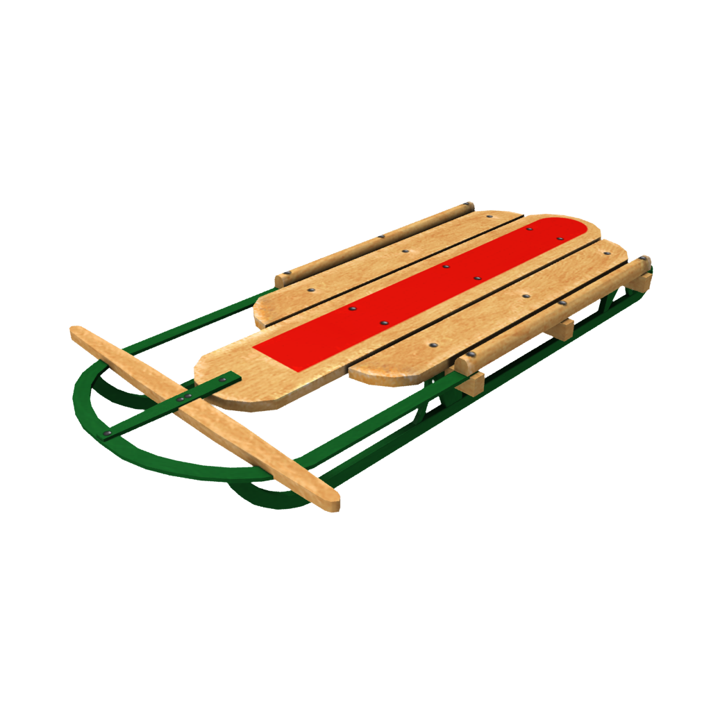 Green Steel Runner Sled