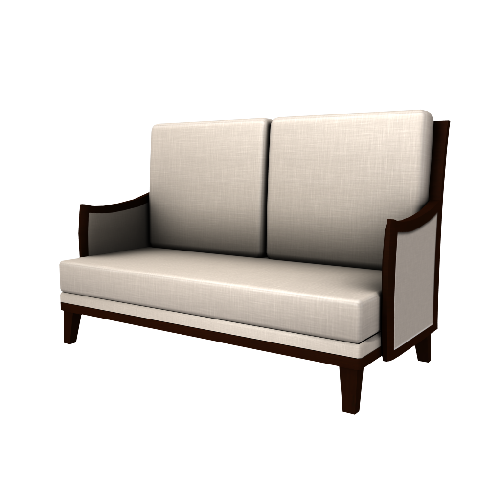 Traditional Love Seat - White