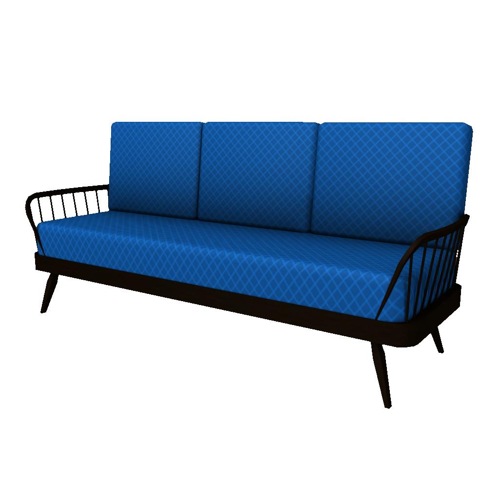 Upholstered Sofa - Blue