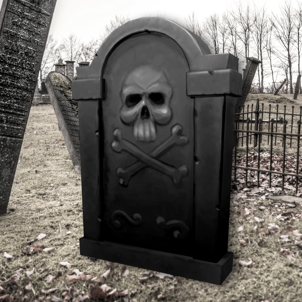 Tombstone - Skull and Crossbones