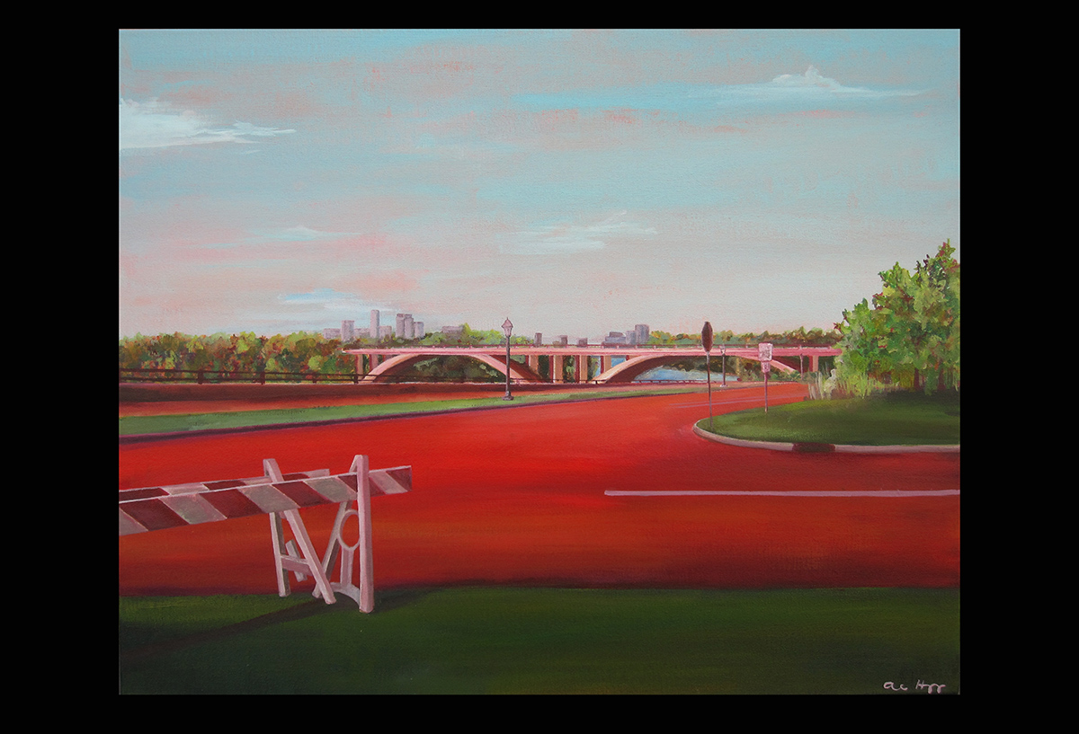 "Lake Street Bridge    acrylic on canvas  2012  24"" x 30"""