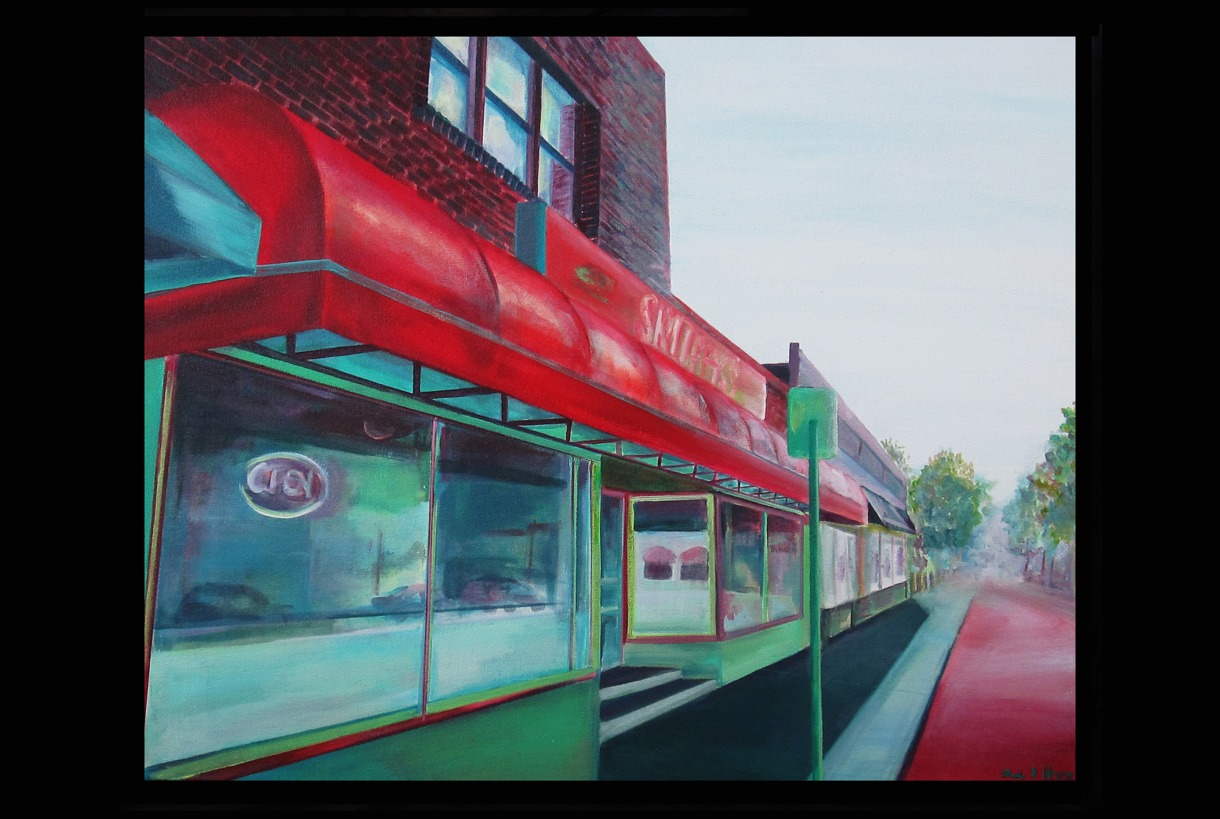 "Snuffy's on Cleveland   acrylic on canvas  2012  24"" x 30"""