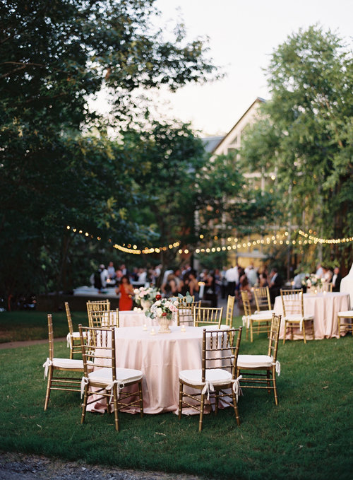 The scene from Lily & Jeff's wedding reception at Cheekwood Botanical Gardens in Nashville, TN. Wedding planning and design by Big Events Wedding.