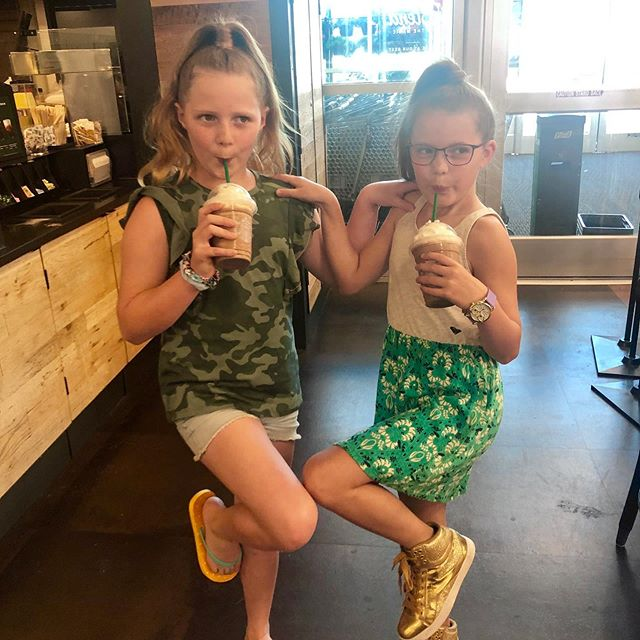 Gwyn decided on no birthday party this year, and instead invited her bf from Birmingham to join her for a very Gwynnie day! (🤓smart kid!): Starbucks, Above All, shopping, ear-piercing, mani/pedis and Peter's Sushi for dinner! The cherry on top was finding out she made the cheer team she really wanted! — thankful for amazing lifelong friends.