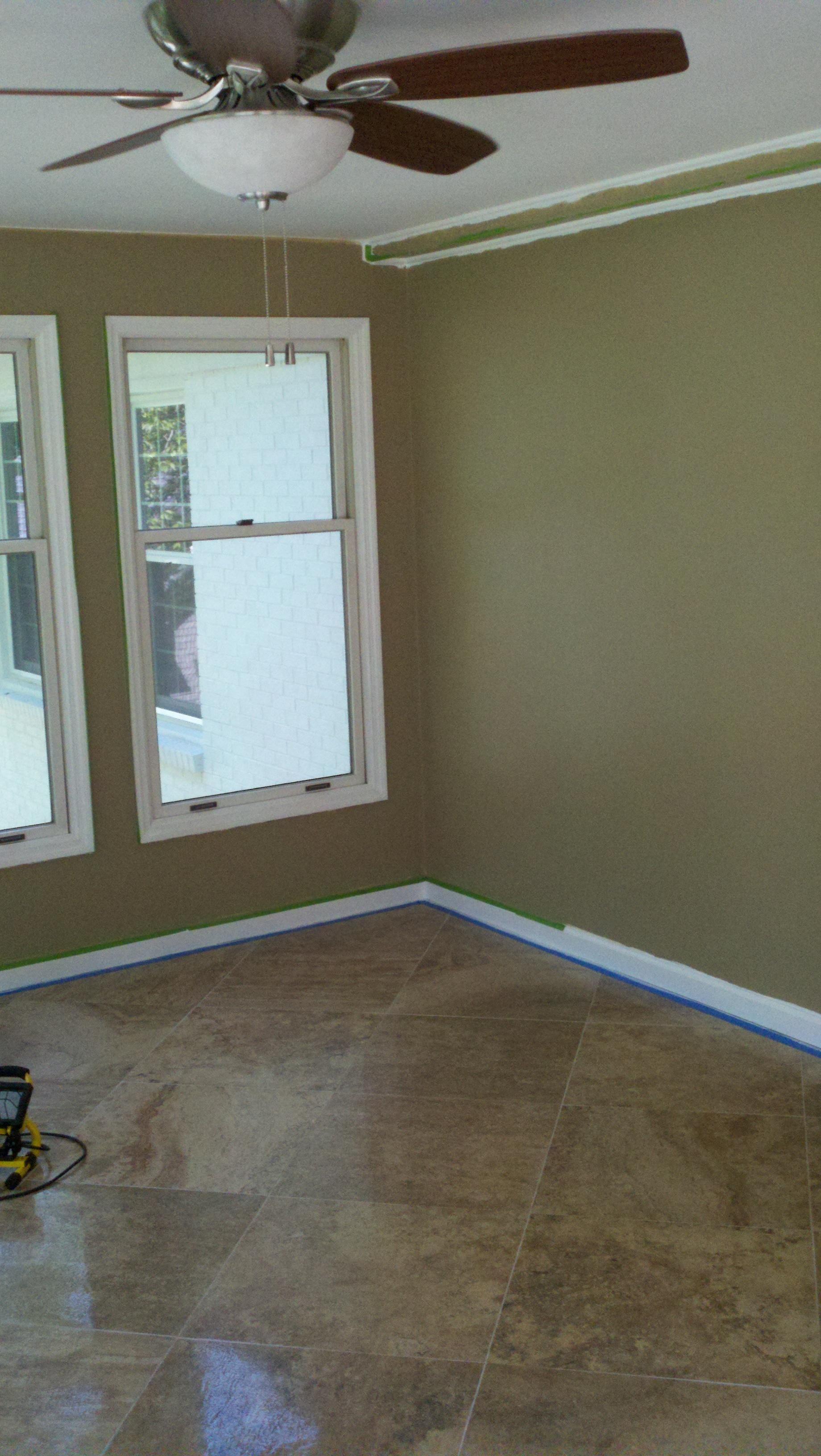Cherry Grove Tile Floor install