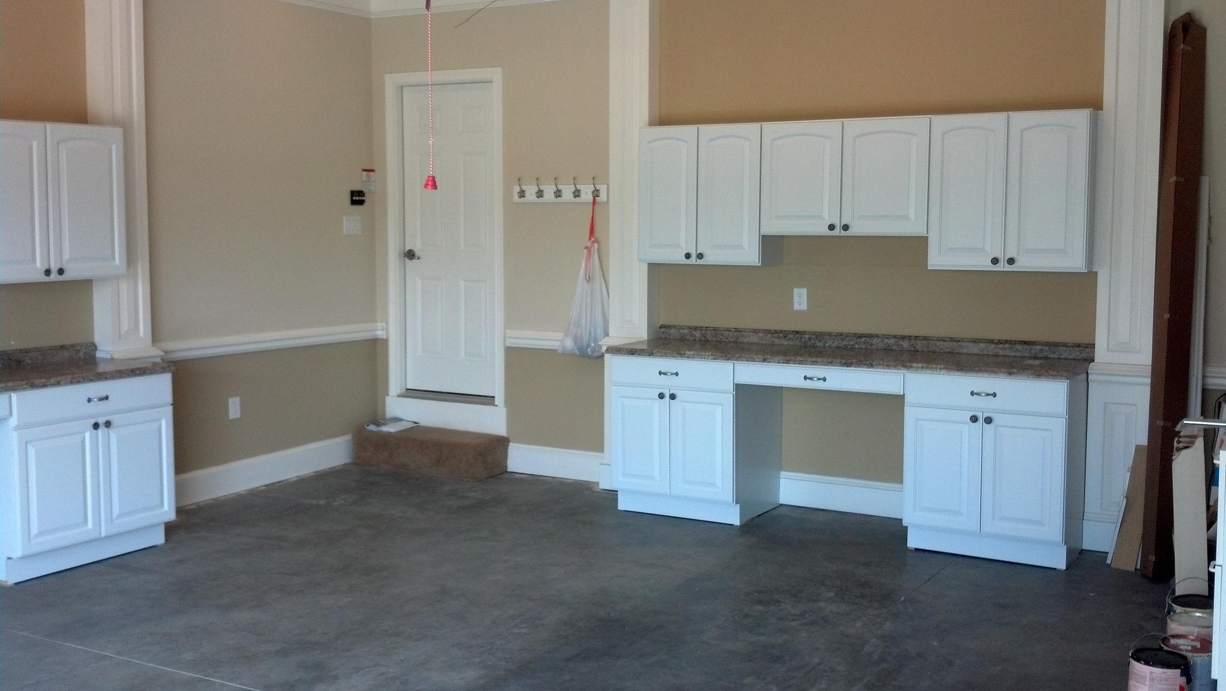 Dry Run Garage Cabinet Install