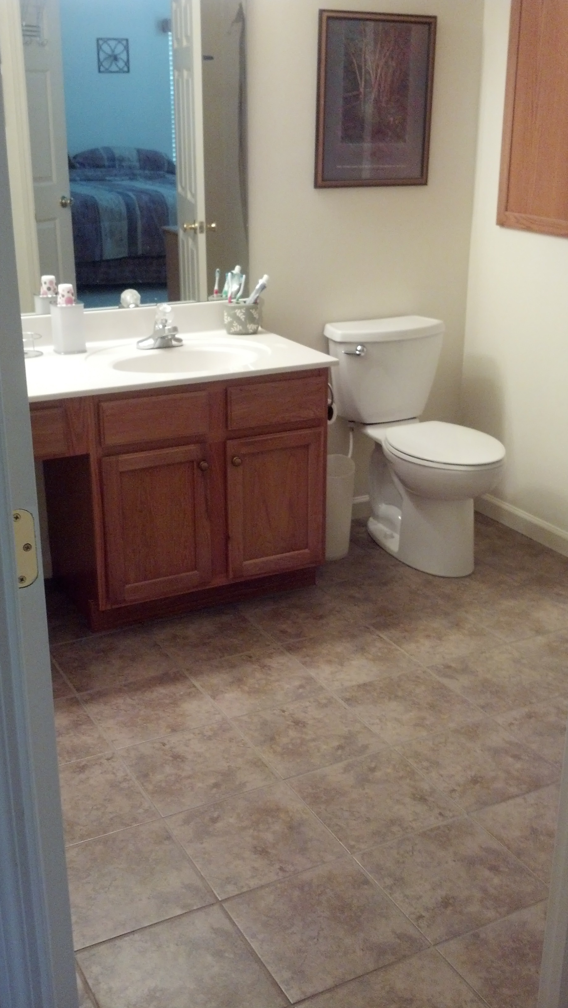 Day Heights Bathroom Floor Install