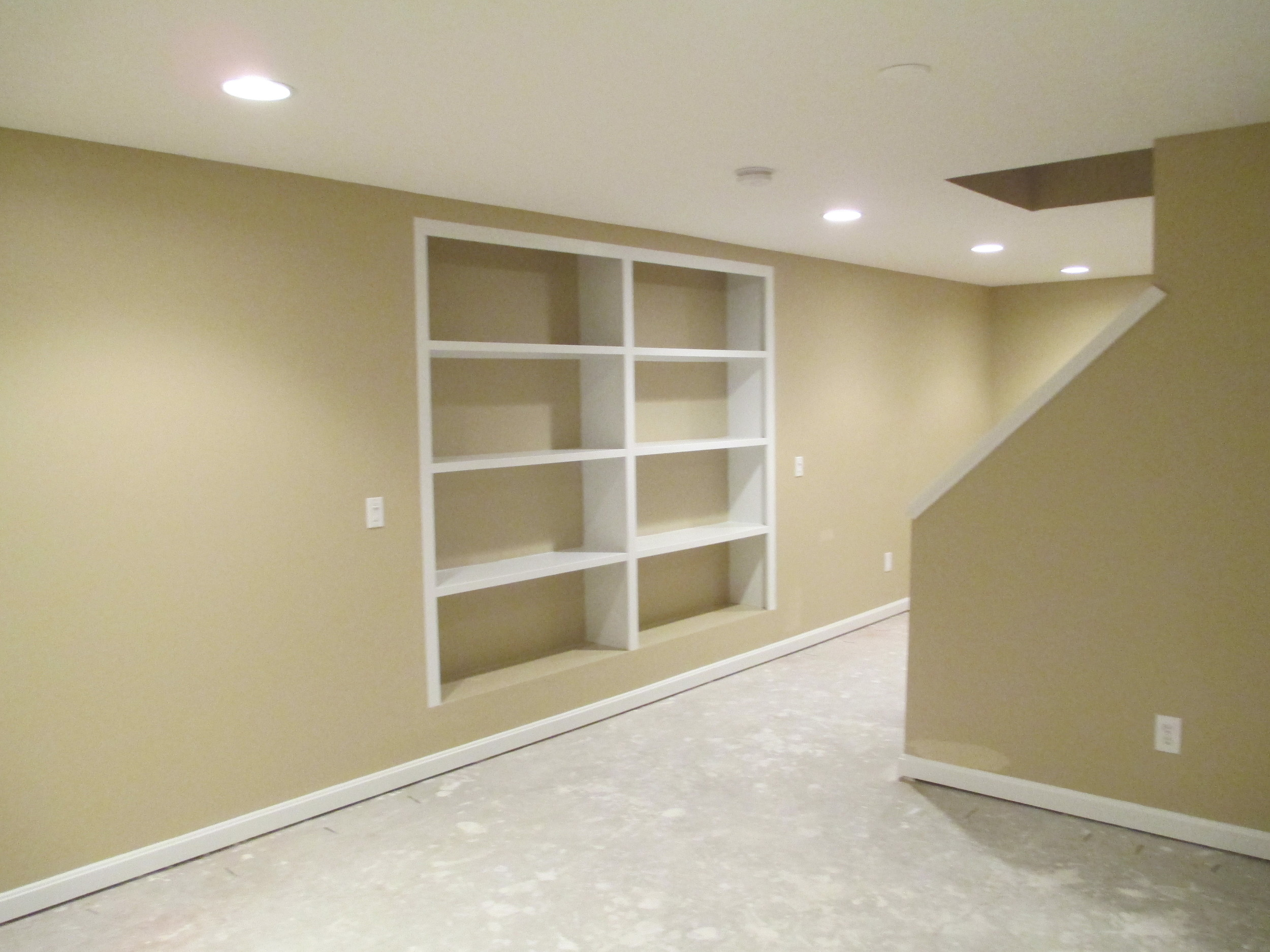 Madisonville Finished Basement Carpentry