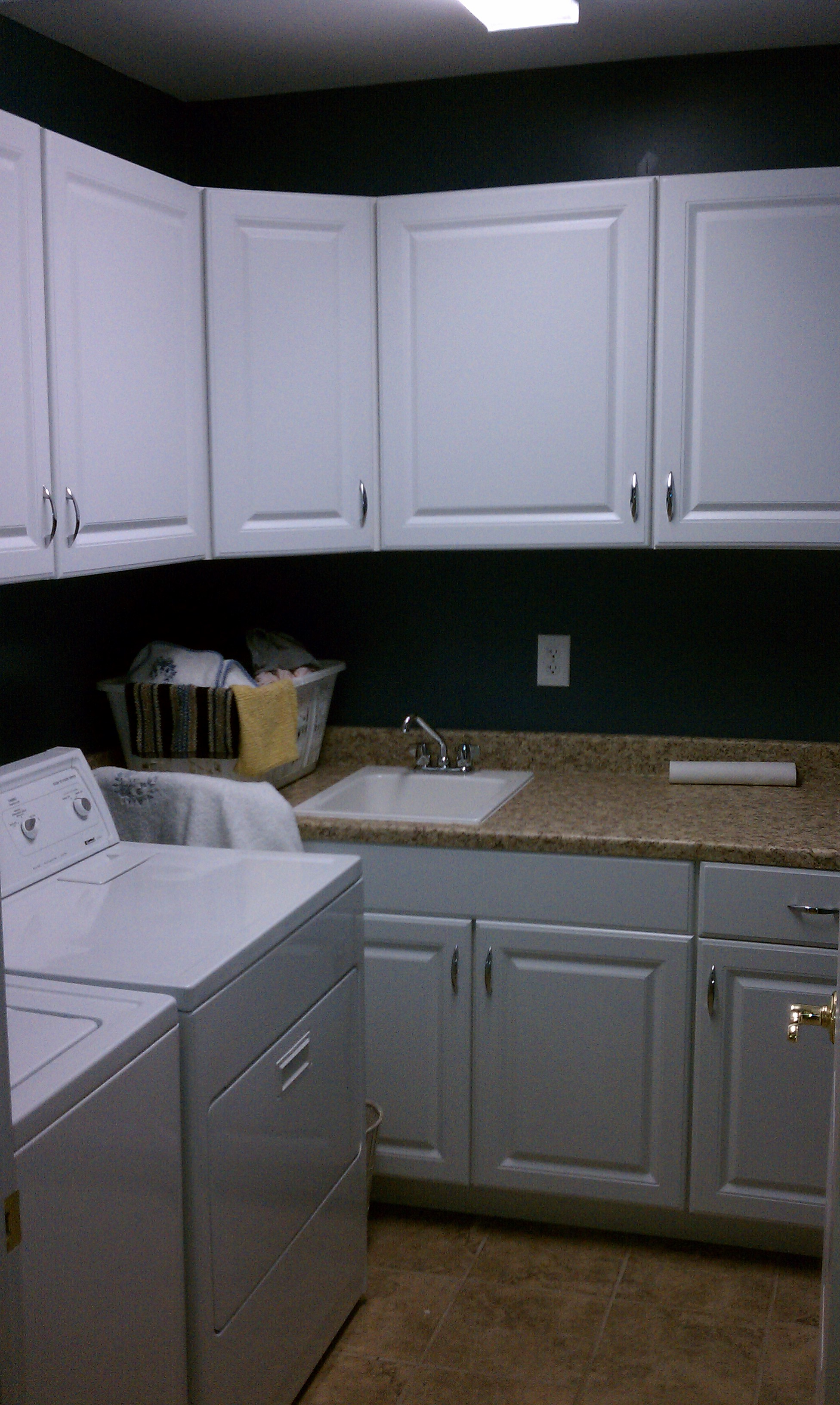 White Oak Laundry Room Cabinets