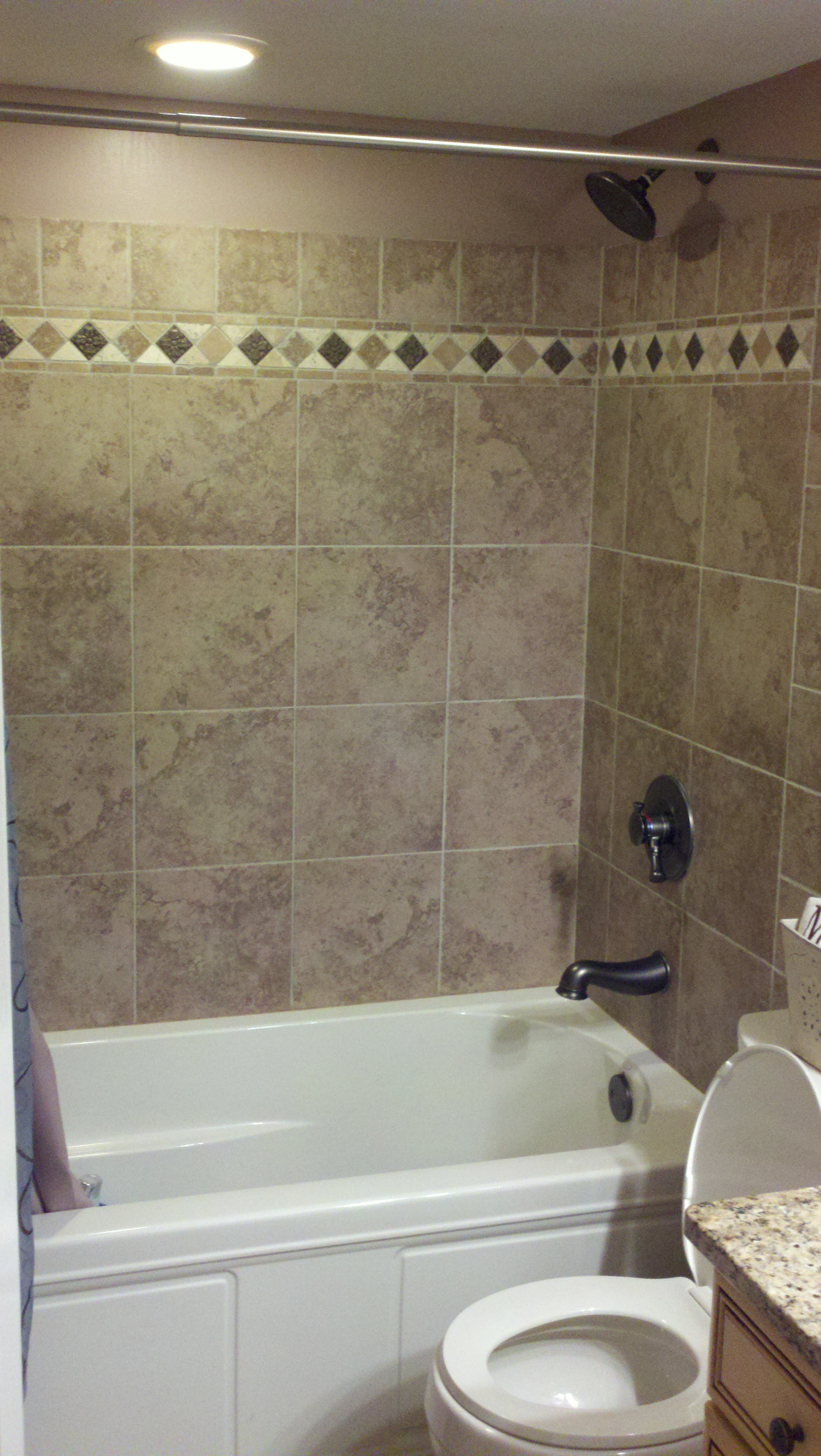 Newport Shower Tile Installation