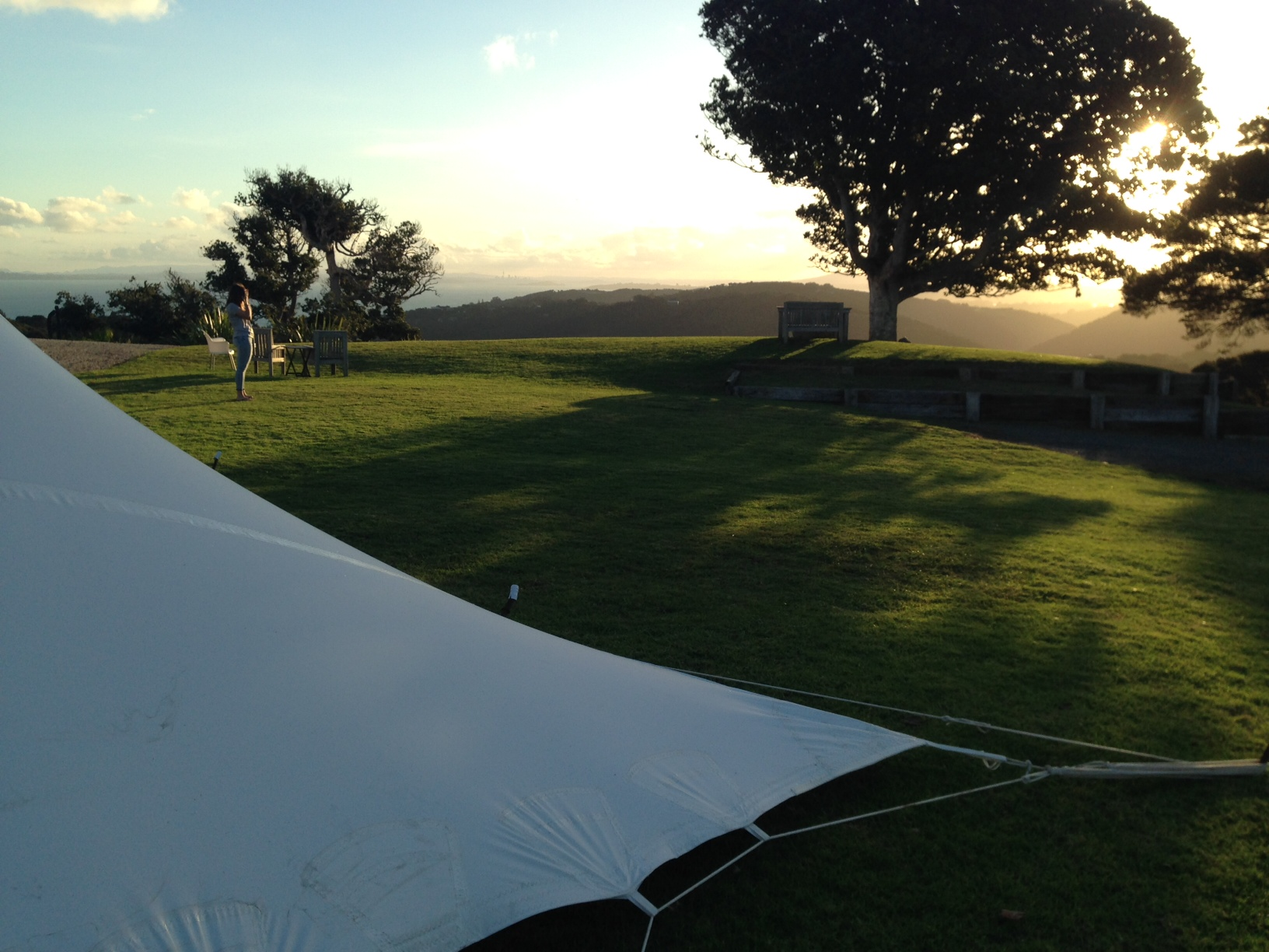 View from the Island Styles Marquee at Batch Winery, Waiheke Island. April 2014