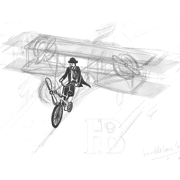 Our final concept was a man riding a bike plane - nothing we'd created at that point was even close in sheer awesomeness, symbolism, or longevity.