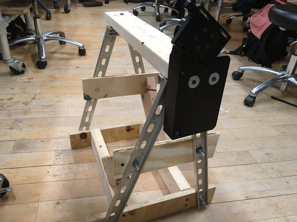 Our frame with a ball-bearing head