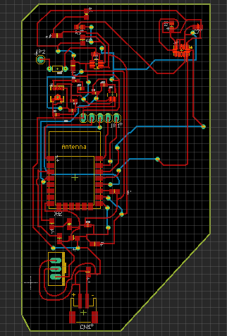 Final design, accelerometer will be cut from this board and placed somewhere else - it was too long to fit on the board in a straight line