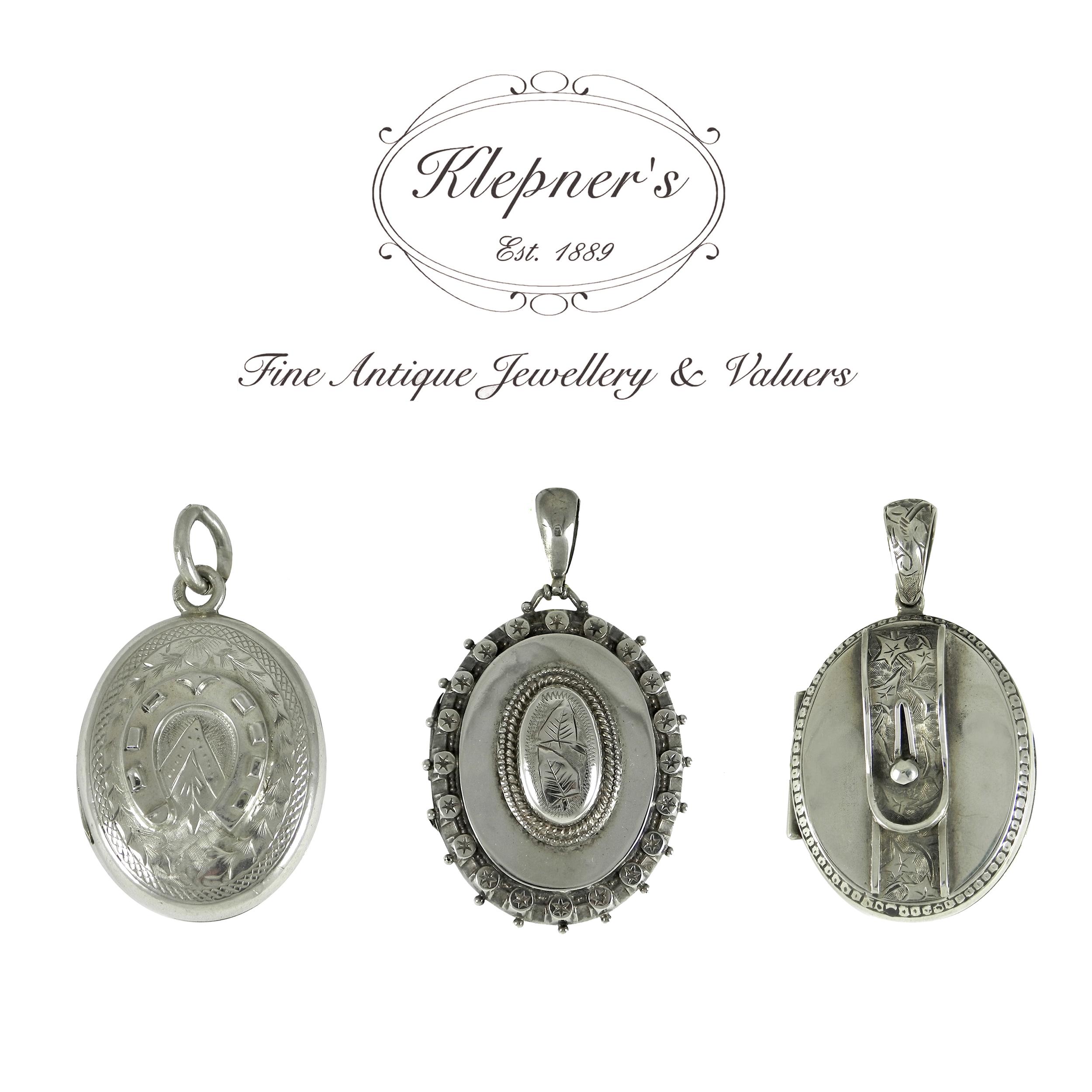 Antique Victorian Silver Lockets.JPG