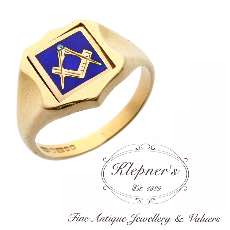 -SOLD- Antique Edwardian Masonic Spinner Ring — Klepner's Fine Antique  Jewellery & Valuers- Antique Engagement Rings