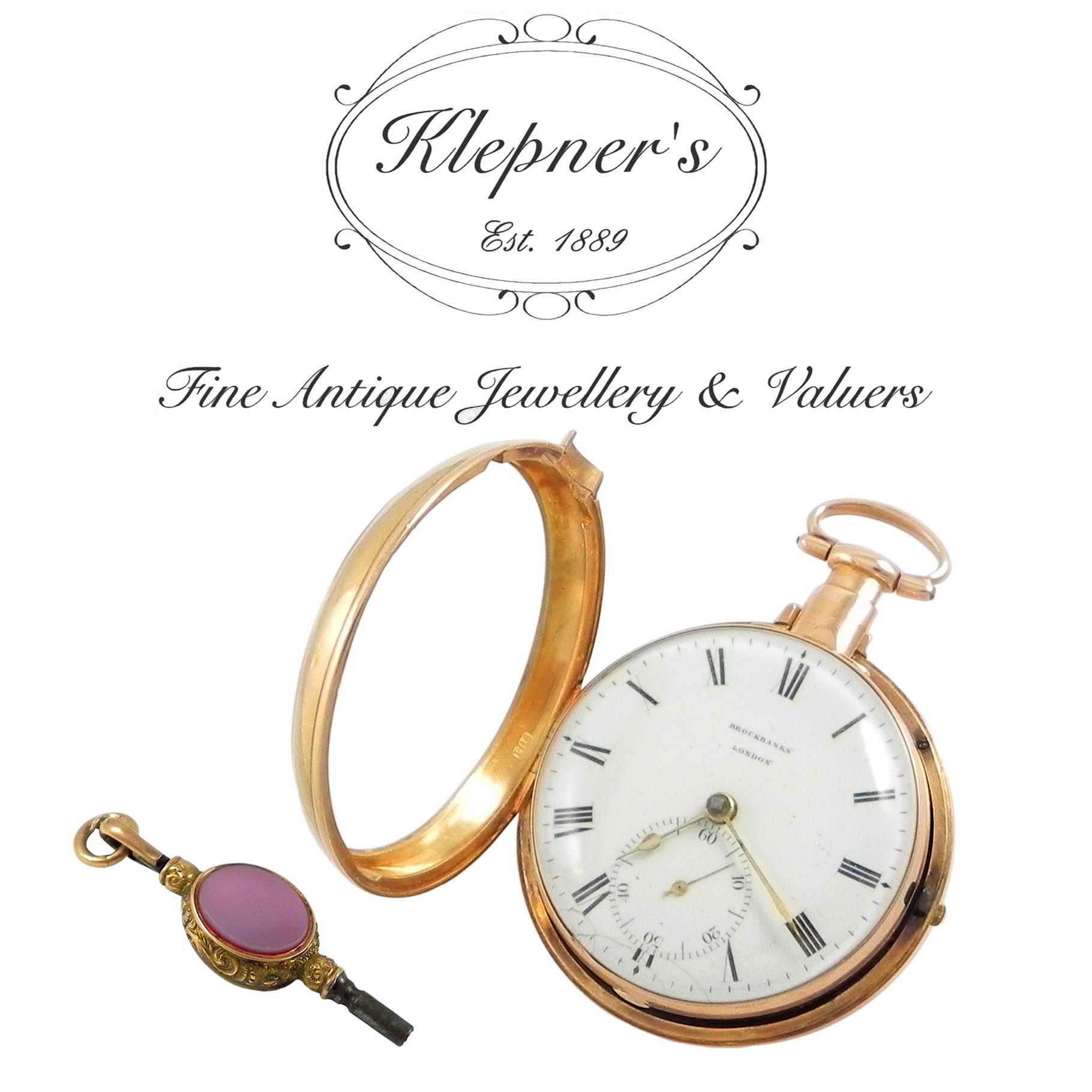 Antique Gold Pocket Watch Key Wind.jpg
