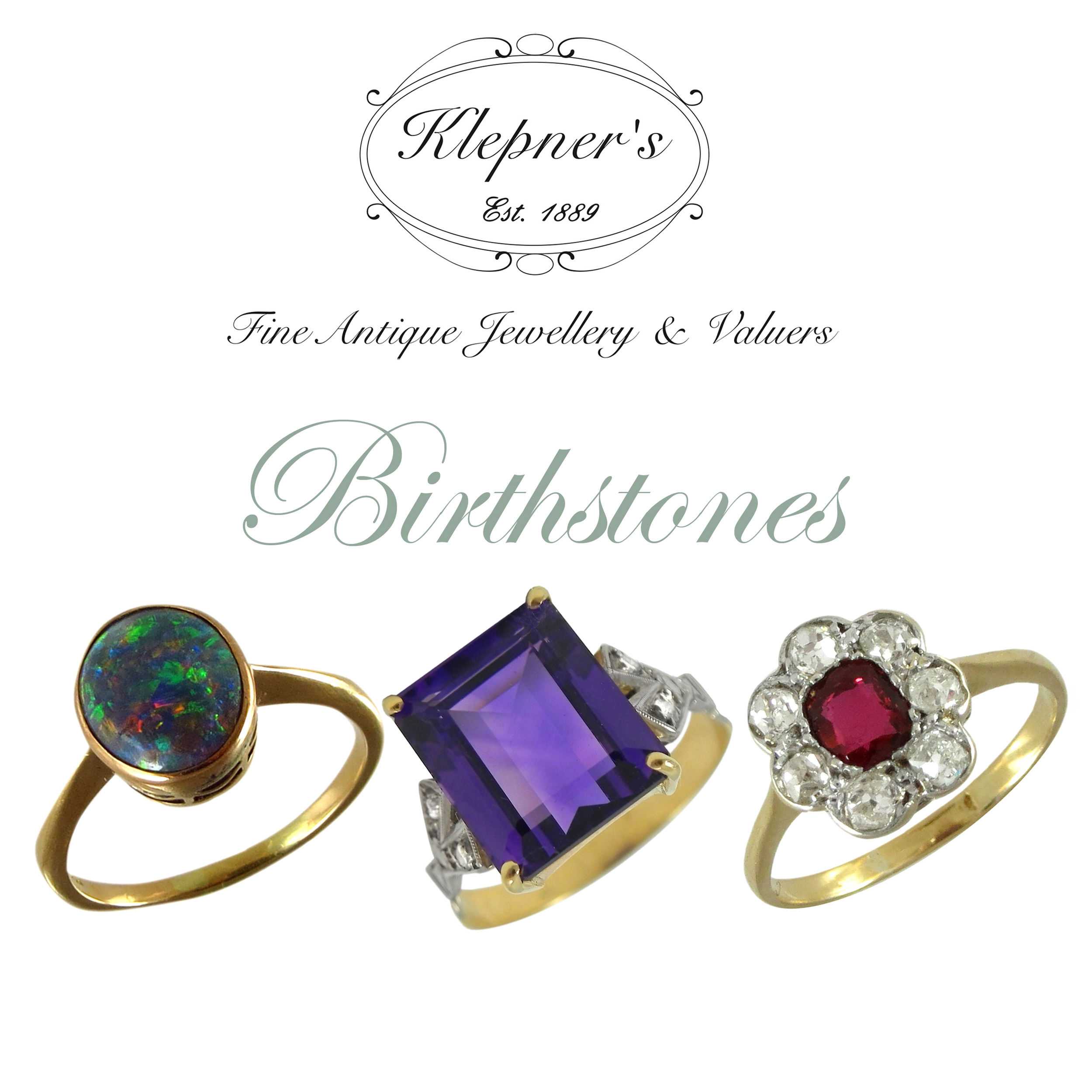 Our photographic guide to birthstones & birthstone jewellery
