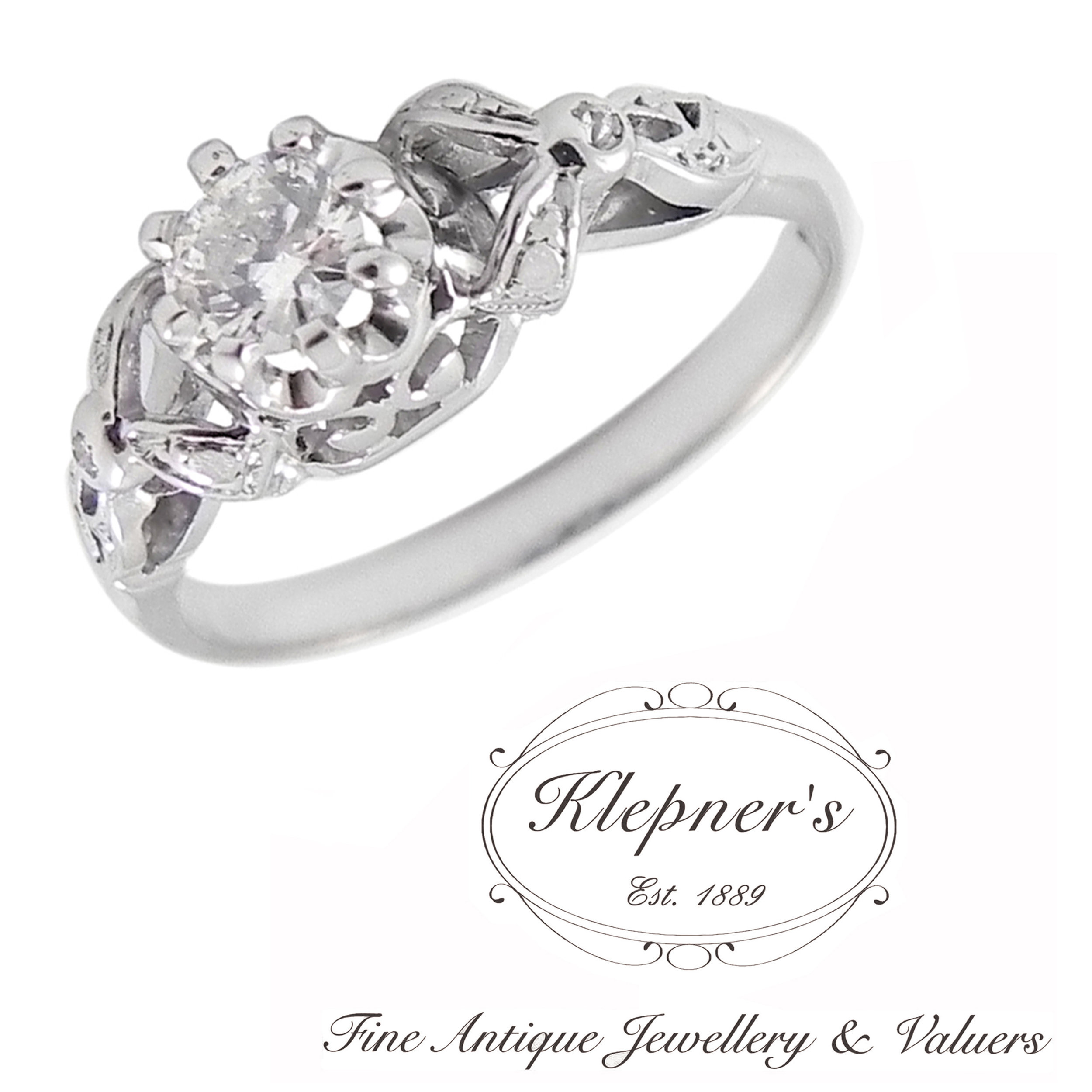 Custom Made Vintage Inspired Engagement Rings