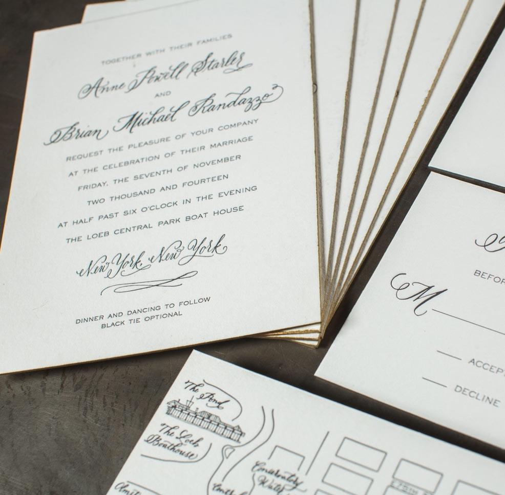 Letterpress Wedding Invitation Gallery