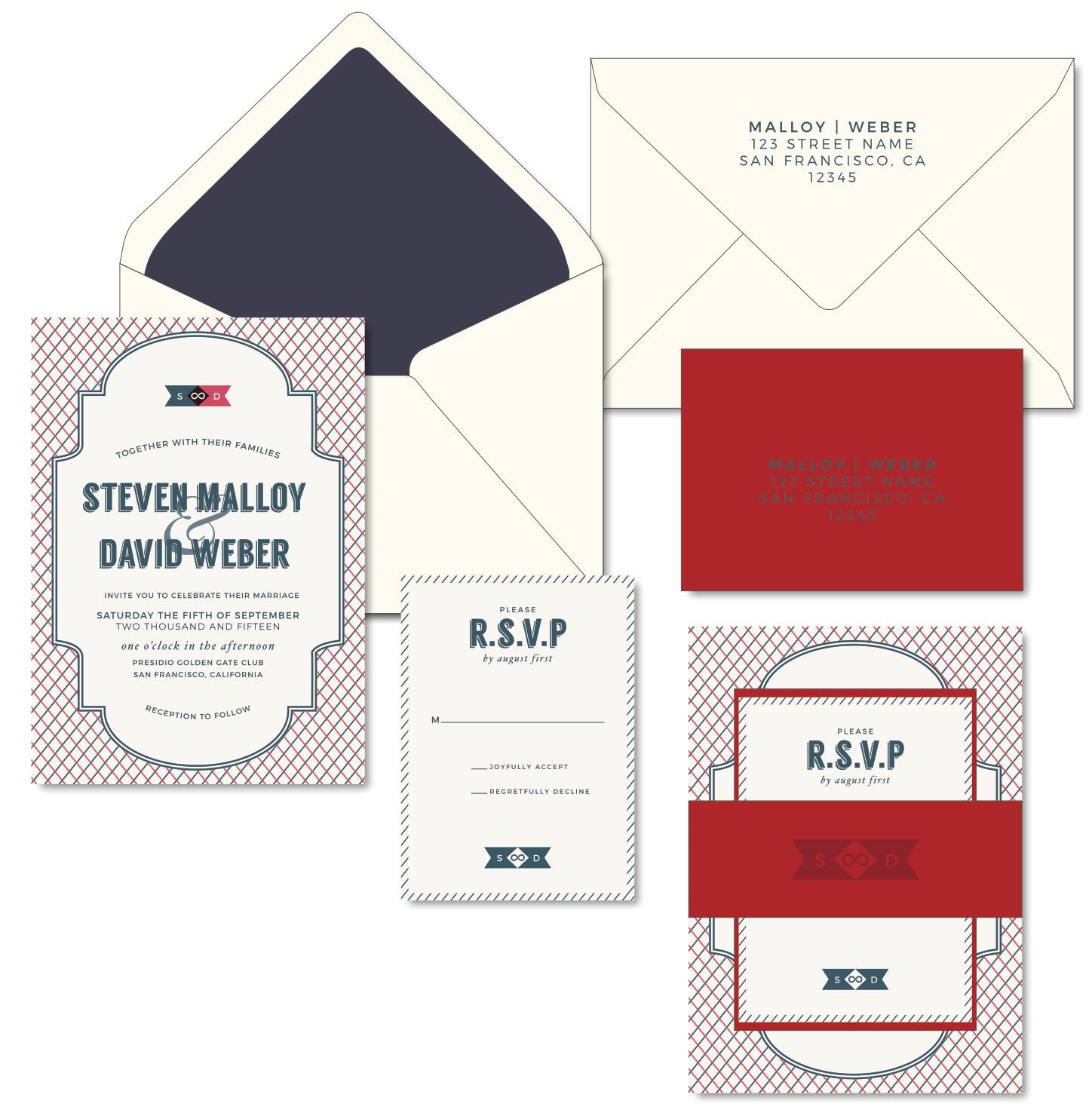Gay Wedding Invitations - Letterpress