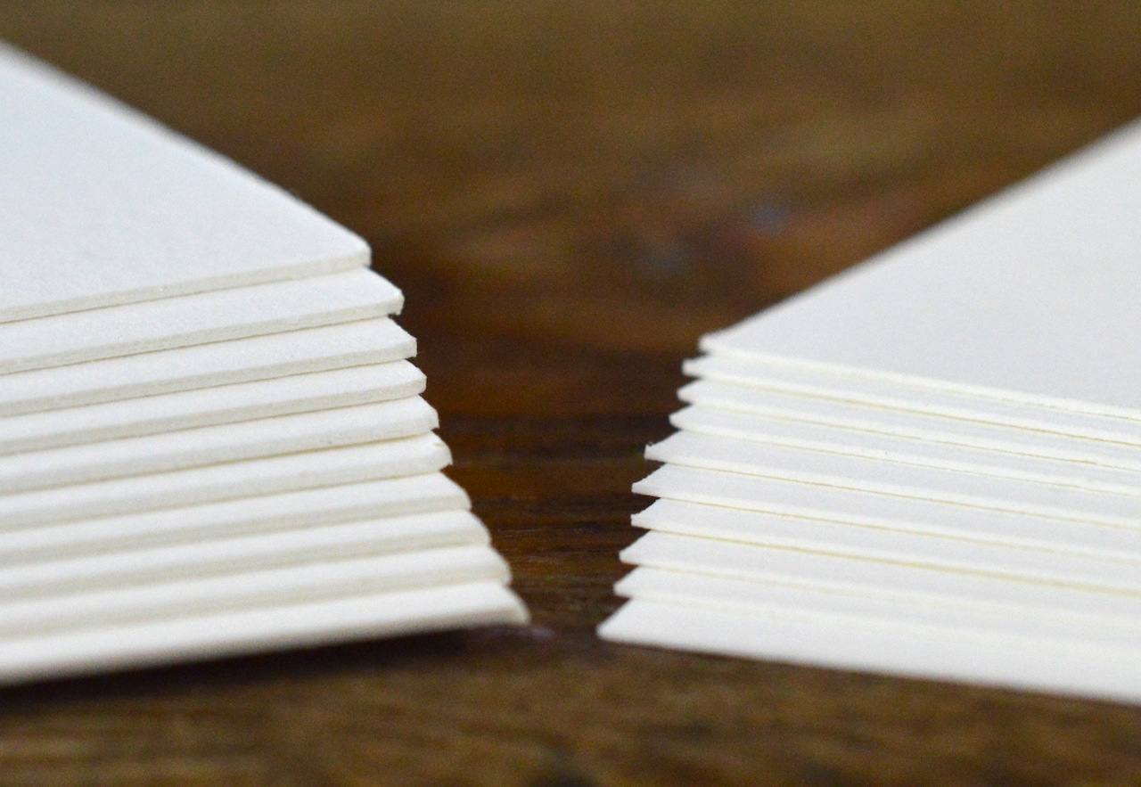 paper Stock - We reccomend printing on 80pt. coaster stock, 50pt chipboard, or 220C Lettra