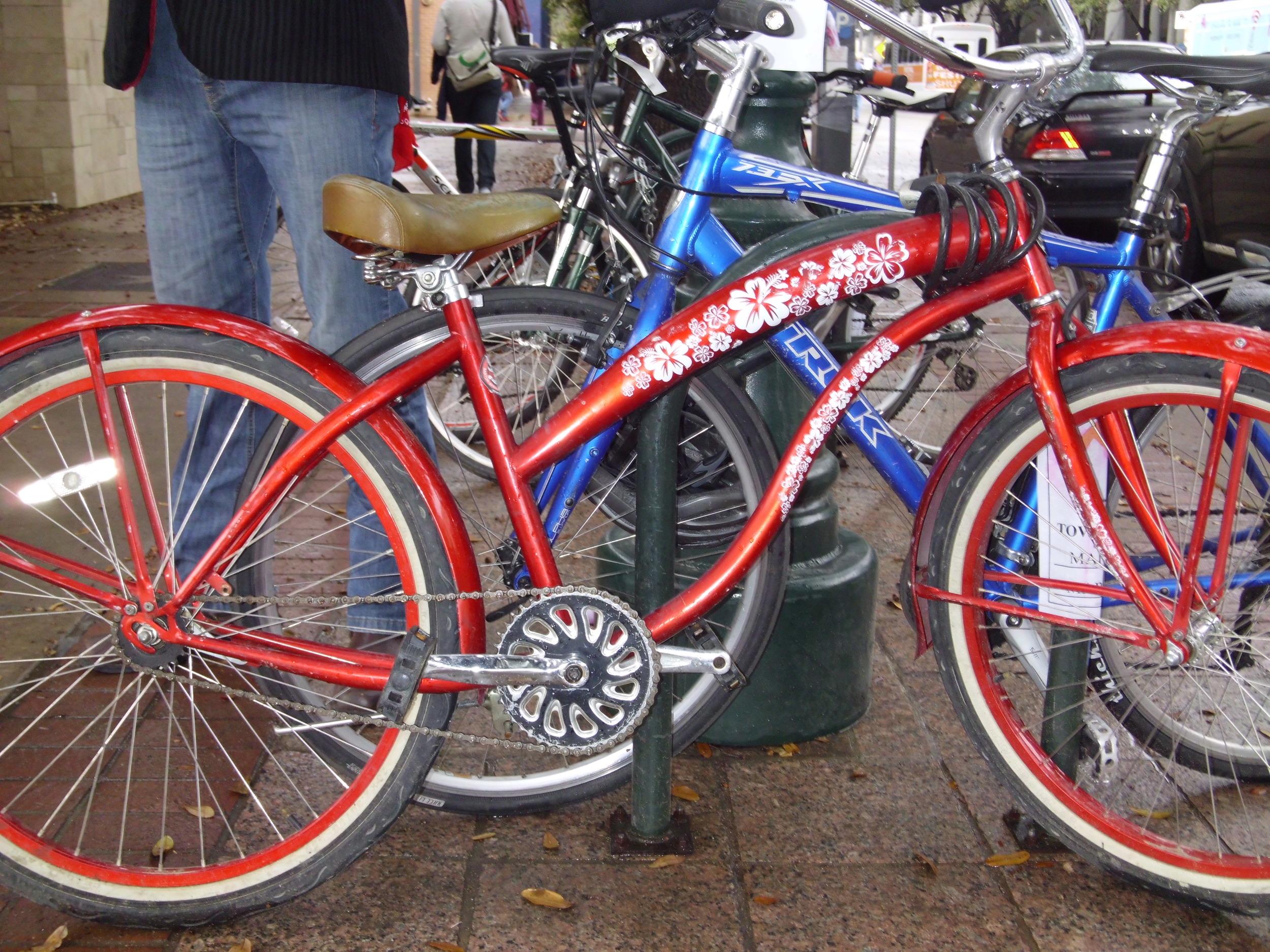 My beach cruiser bike - The Red Baron.