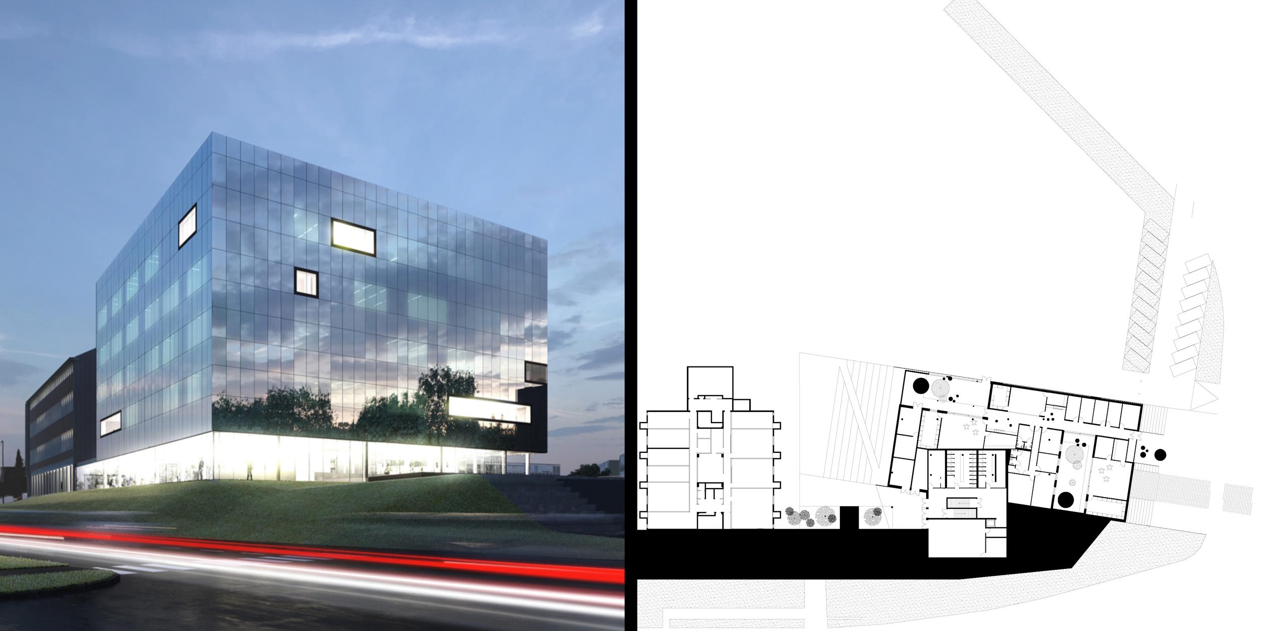 Bâtiment Théoriciens de l'Université de Mons