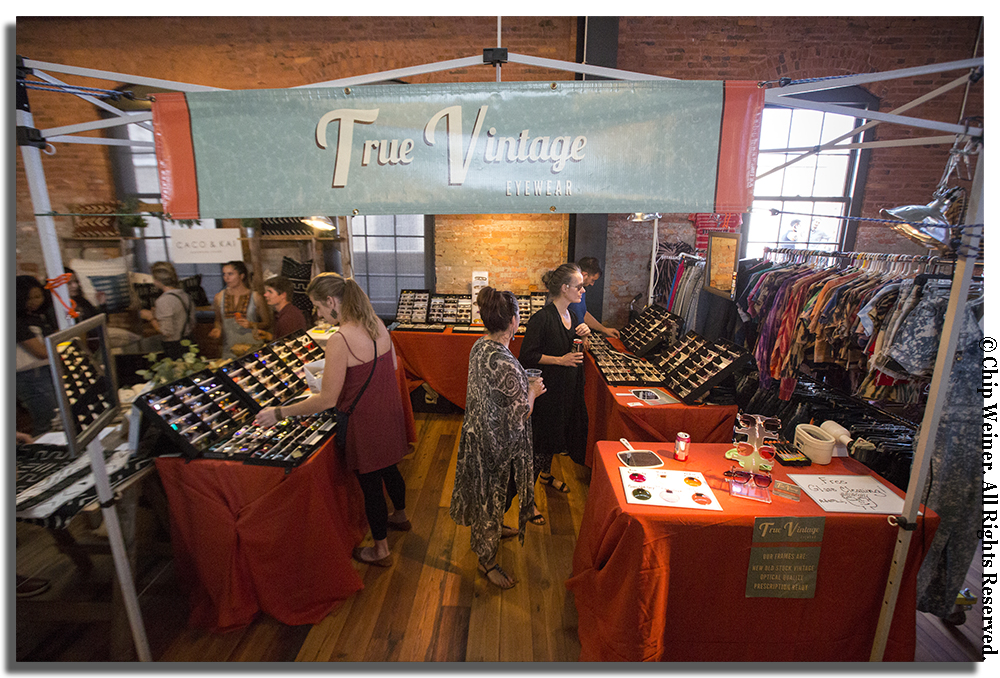 Vintage eyewear and vintage clothing were part of the mix of the first Tampa Indie Flea