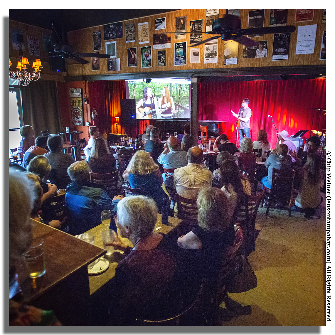 Fran Snyder with the Listening Room Network previews acts for potential hosts in August 2017 at the Hideaway listening room in St Petersburg