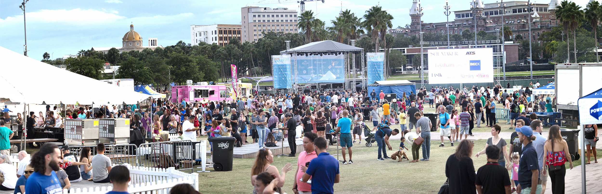 Thousands of people joined their friends and neighbors and Weiner dogs to party along Tampa's Riverwalk for the 2018 Tampa Riverfest