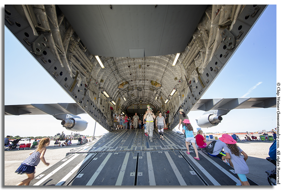 This is the belly of the beast C-17 cargo plane