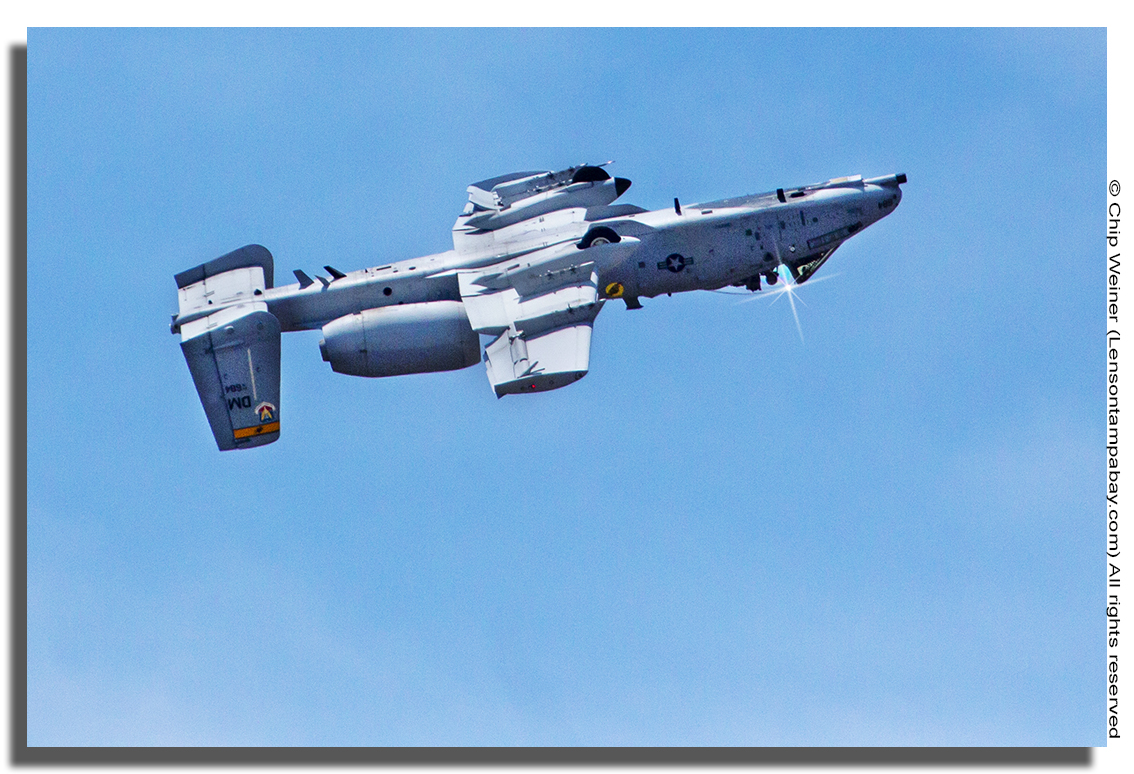 Yes, that's an A- 10 Thunderbolt II inverted