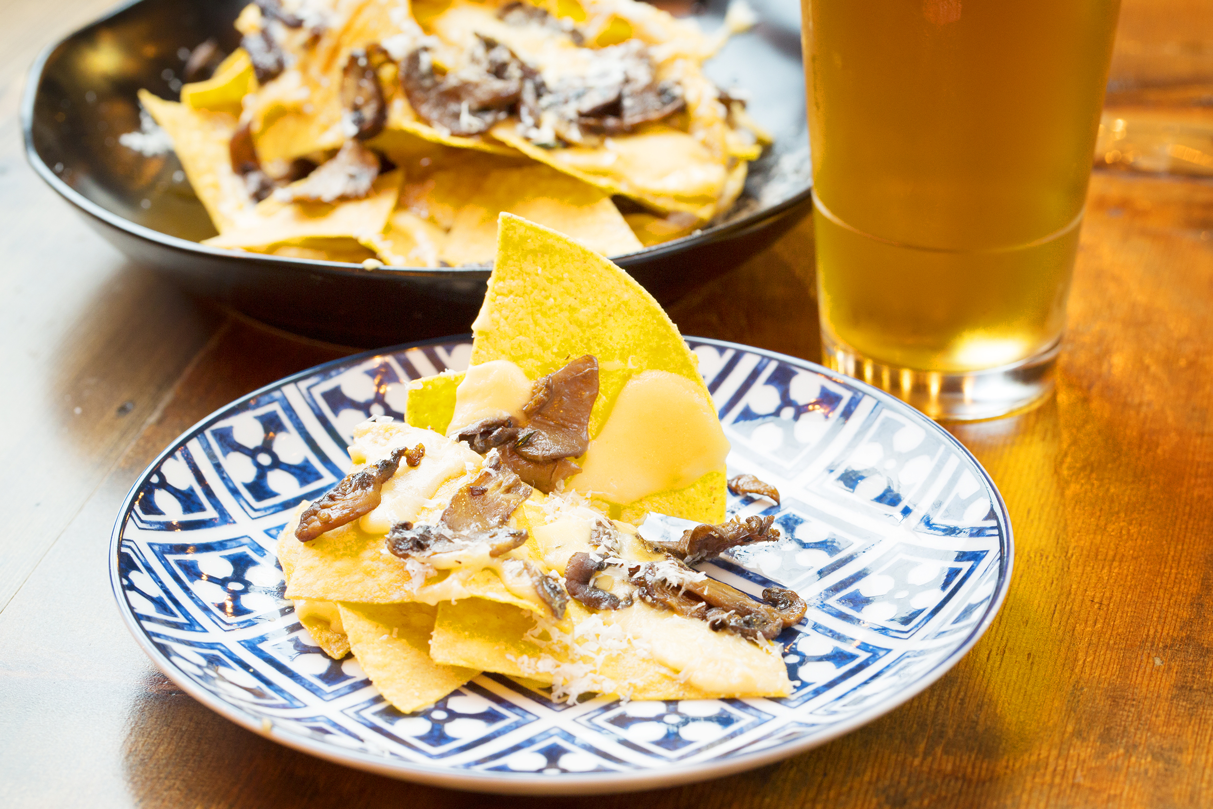 Platt Street Borough Truffle Nachos- House fried tortilla chips, truffle mornay, roasted mushrooms-14.jpg