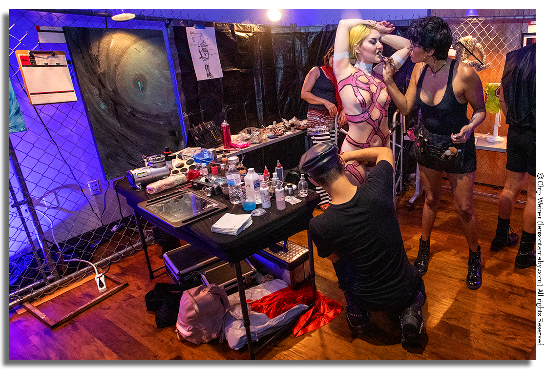Body painting was just one of the active art exhibits at KINK