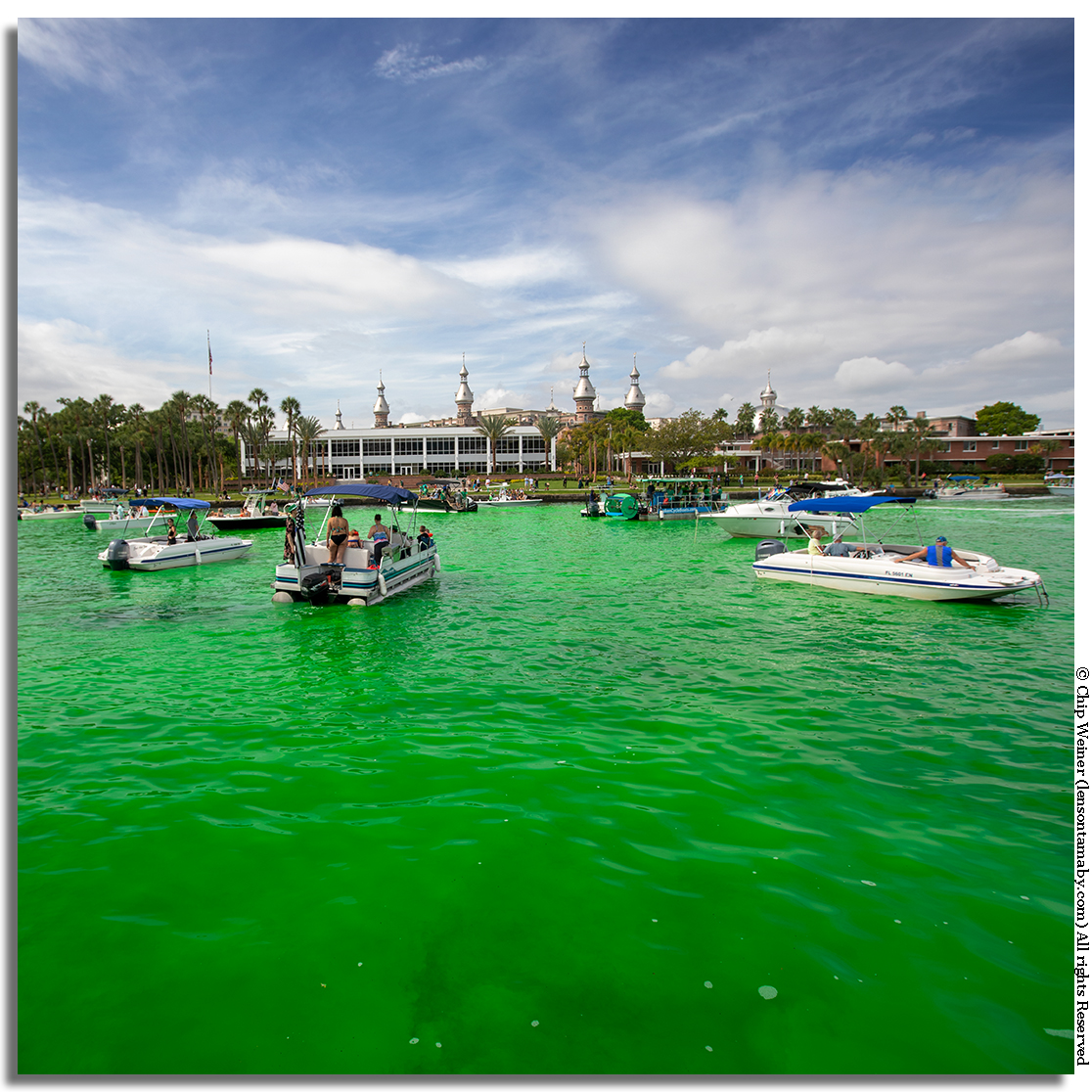 Yes, the river really is that green-a non-toxic biodegradable dye is used for the one day festival