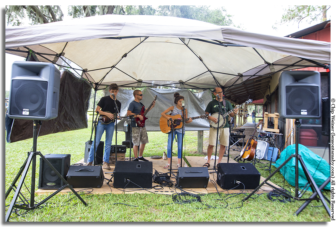 Duck Wallow Lane Bluegrass Band fills the air with harmony and great acoustic music