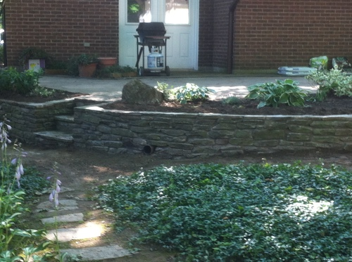 One of our many flagstone walkway projects.