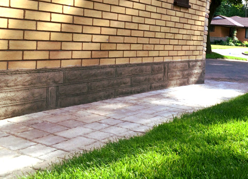 Parged Foundation Wall